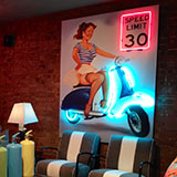 neon pin-up art